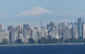 Vancouver with Mount Fraser in the background.