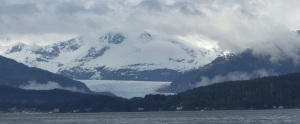 Mendenhall Glacier from the bay.