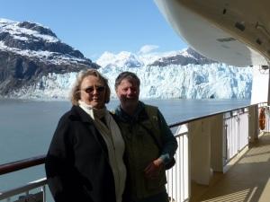 Frank & Donnis at Margerie Glacier.