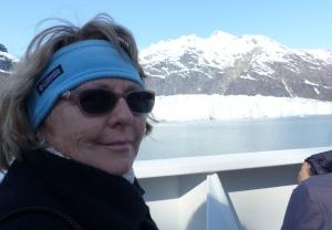 Admiring the glacial cold.