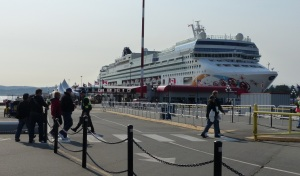 PEARL awaits us at the Victoria docks.