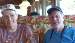 Claude and Frank at Shari's Pie Place.