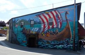 Viking Mural at Poulsbo