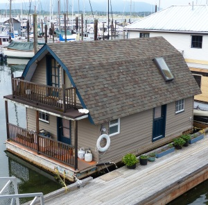 Lovely floating house at Cowichan Bay.