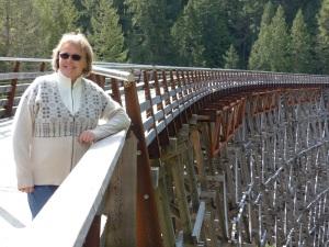 Donnis at the trestle bridge.