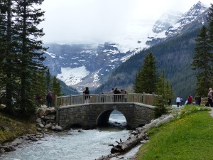 Footbridge bneside the chateau at Lake Louise