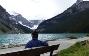 Frank at  Lake Louise.
