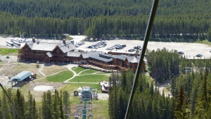 Resort seen from chair lift.