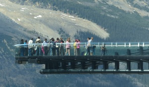 This is the Glacier Skywalk with the glass walkway.