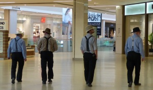 A group of Hutterite men at the Wset Edmonton Mall. It was probably their first visit as it was mine.