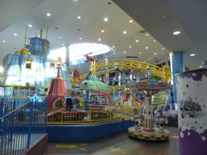 Galaxy World inside West Edmonton Mall. It is compact but none the less exciting  for children.