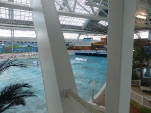 Wave pool at the mall. Entry fee, just as a spectator is $30.