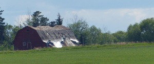 Another crumbling Ukranian barn.