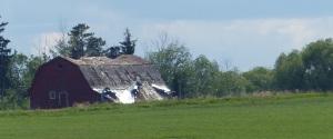 Another crumbling Ukranian barn.
