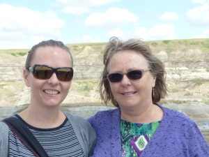 Alecia and Donnis at the Drumheller Badlands.