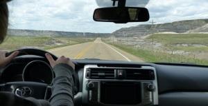 Drumheller Badlands drive.