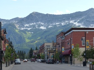 Main street the town of Fernie.