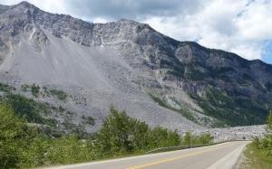 Rock slide at Frank