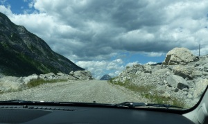 Interpretive drive through the Frank Slide.