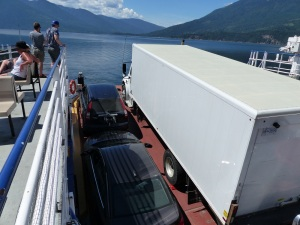 Tight squeeze on board the ferry.