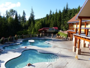 Halcyon Mineral Springs with our poolside cottage.