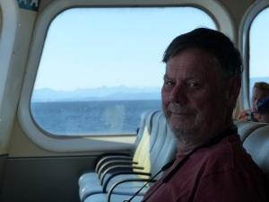 An unsuspecting passenger aboard a B C Ferry