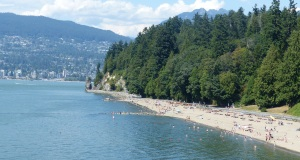 One of several popular beaches within Stanley Park