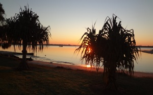 Sunrise over the Broadwater.
