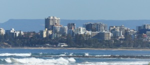 Wollongong city skyline.