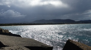 Storm clouds approaching Coffs Harbour.