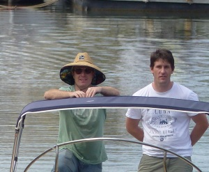 Errol and Steve aboard the SS Creek Cruiser.