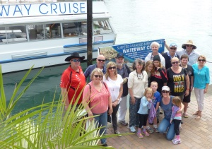 All the family after the boat trip.