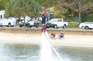 Flyboard fun.