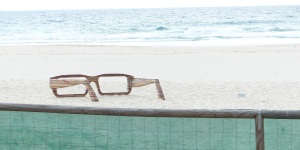Sunglasses left on the beach.
