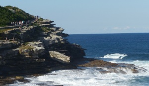 Clifftops from Bronte Beach looking north towards Tamarama Beach.