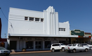 This wonderful Art Deco movie theatre stands out as a once busy but now sadly no longer used as such.