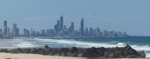Another view of Surfers Paradise from near Currumbin Alley.