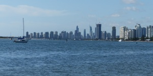 Surfers Paradise from Biggera Waters on The Broadwater.