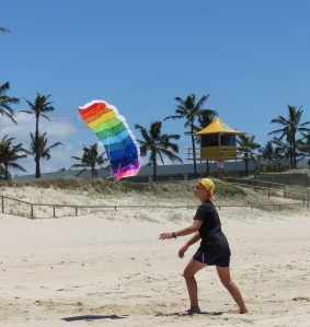 Frank chasing Anakin with the kite