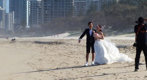 Lets do our best to get some nice photos. I am so pleased my white shoes matches your billowing white wedding gown.