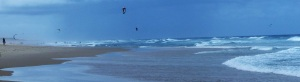 Kite Surfing is very popular