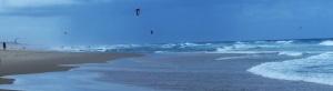 Kite Surfing is very popular