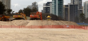 """Hmmm! Lots of digging in the sand but the signs say """"Dune Restoration"""" Seems more like """"Dune Destruction""""."""
