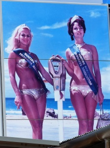 Although undated this photo is probably from the 60's The style of bikini and the hairdo's  give the era away.