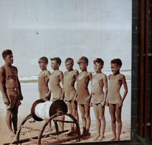"""This is another photo perhaps from the 40's. Child trainee lifesavers were and still are call """"Nippers"""""""