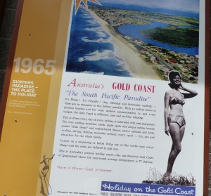 "The coastline has changed dramatically over the last 50 years. Notice the use of the word ""gay"" has now taken on a totally different meaning."