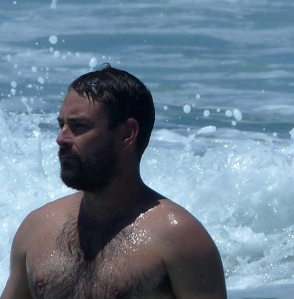 Pete enjoys his time in the surf.