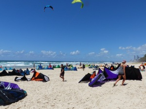 Some of the competitors kites.