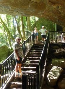 Leaving the Natural Bridge grotto.