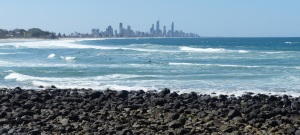 Burleigh Heads looking north to Surfers Paradise.